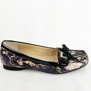 Ellen Tracy Wanda Snake Skin print Loafers size 6M
